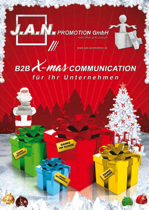 Weihnachts-Blätterkatalog von www.jan-promotion.at