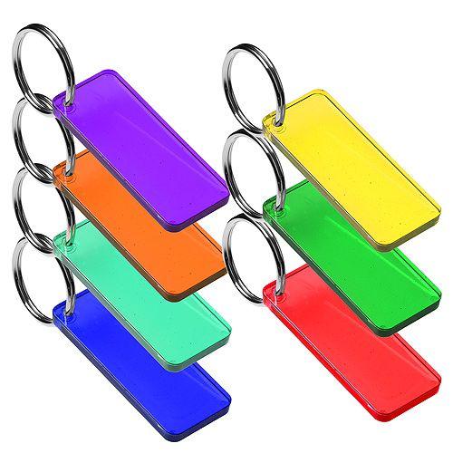 Schlüsselanhänger Rechteck, trend-blau