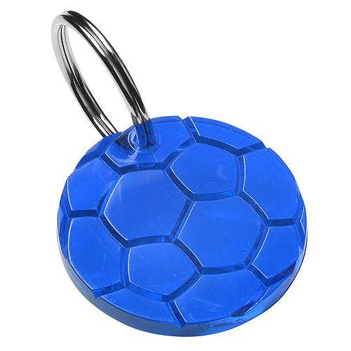 Schlüsselanhänger Rund, trend-blau