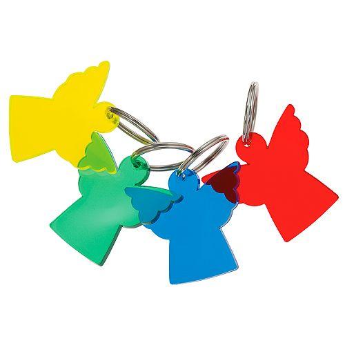 Schlüsselanhänger Engel, standard-rot,