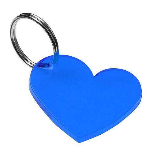 Schlüsselanhänger Herz, trend-blau