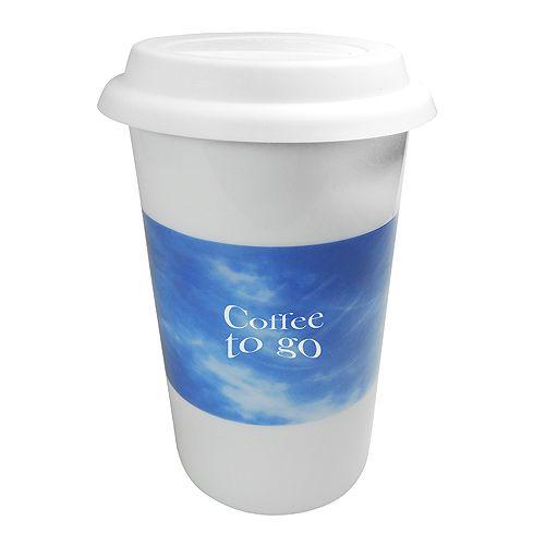 Thermo Kaffeebecher, weiß