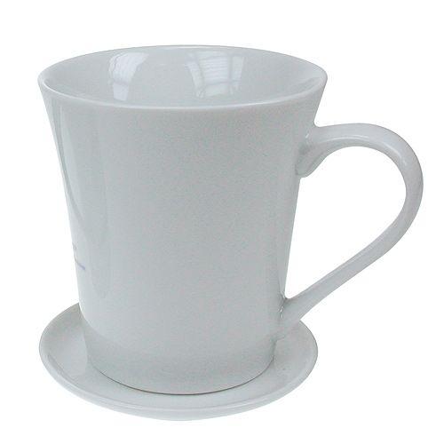Kaffeetasse Tatjana mit Deckel, weiß
