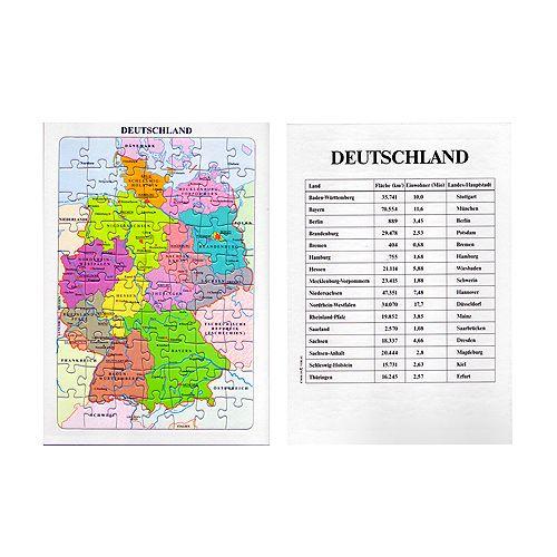 Puzzle Deutschland und seine Nachbarn, bunt