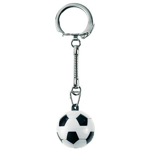 Schlüsselanhänger Knobel-Fußball, weiß/schwarz