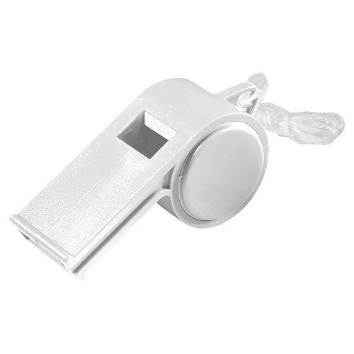 Trillerpfeife Sport mit Kordel, weiß