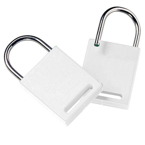 Schlüsselanhänger Sicherheitsschloss, weiß
