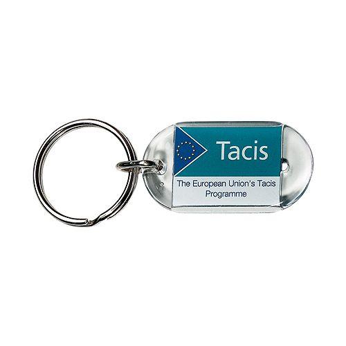 Schlüsselanhänger Inlay 48*26, transparent