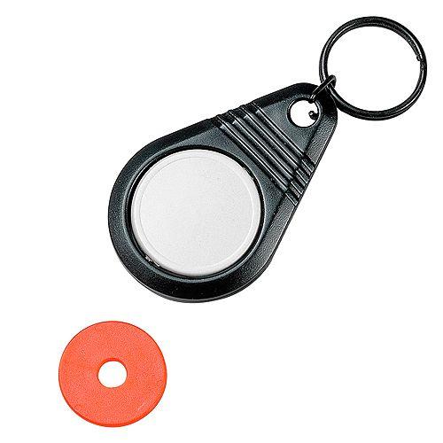 Dreh-Schlüsselanhänger Point mit Chip, weiß