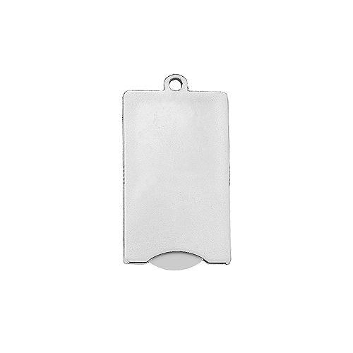 Chip-Schlüsselanhänger Square, weiß