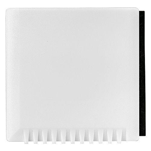 Eiskratzer Quadrat mit Wasserabstreifer, weiß
