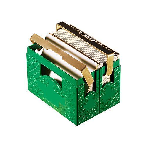 Zettelbox Bierkasten, grün