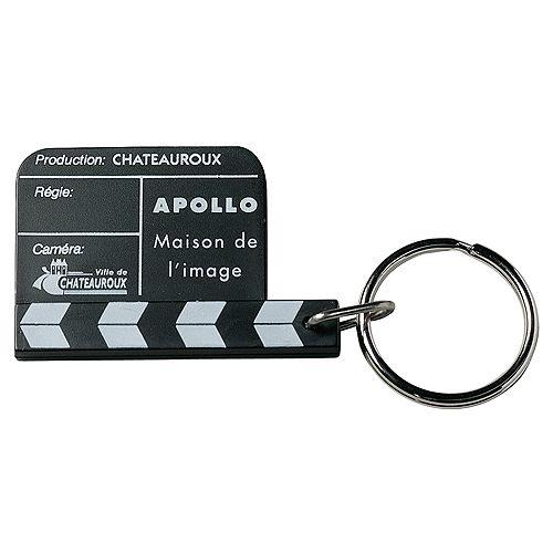 Schlüsselanhänger Mini-Filmklappe, schwarz