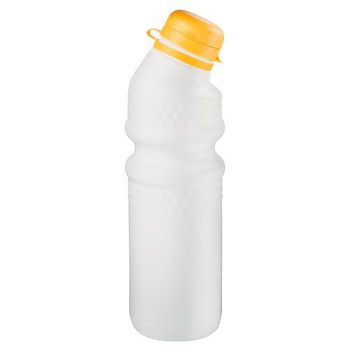 Trinkflasche Fahrrad 0,7 l mit Verschlusskappe, weiß