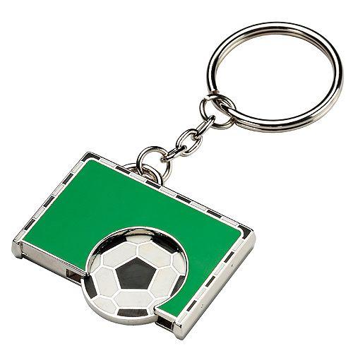 Chip-Schlüsselanhänger Goal, schwarz/weiß/grün