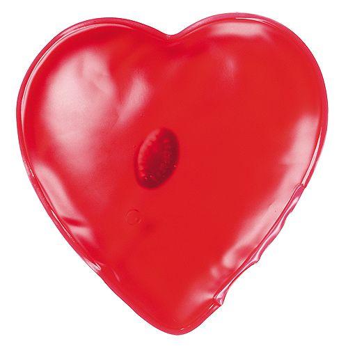 Gel-Wärmekissen Herz, rot, 16P PVC
