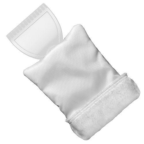 Eiskratzer Eishexe mit Handschuh, weiß