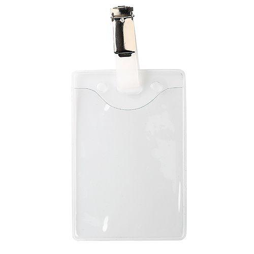 Ausweishülle Soft Plastic mit Clip, transparent