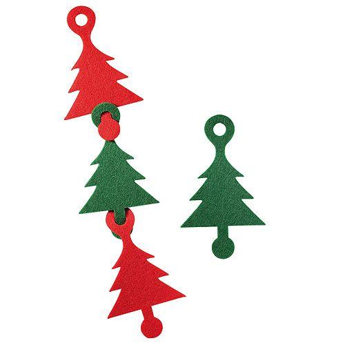 Weihnachtsdeko Kombi, rot/grün