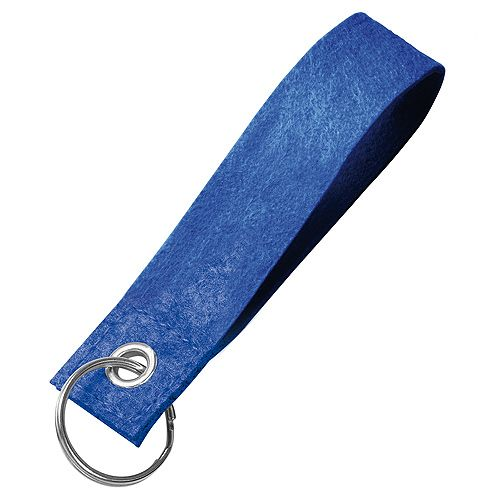 Filz-Schlüsselanhänger Strap, blau