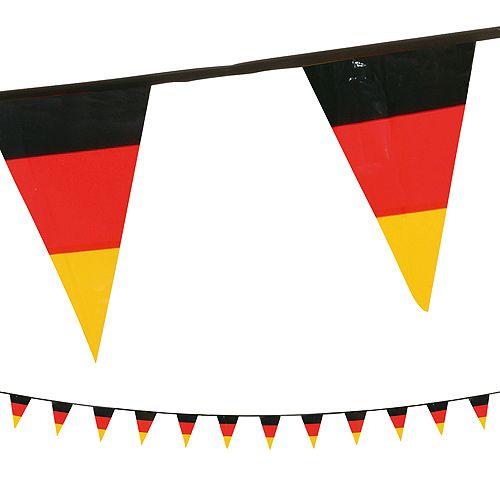 Wimpelkette Deutschland, schwarz/rot/gelb