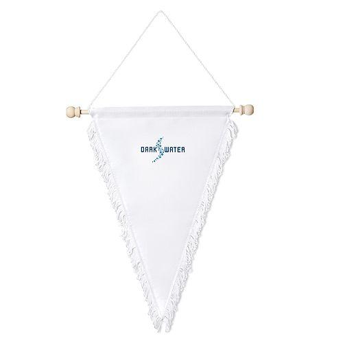 Wimpel Dreieck groß, weiß