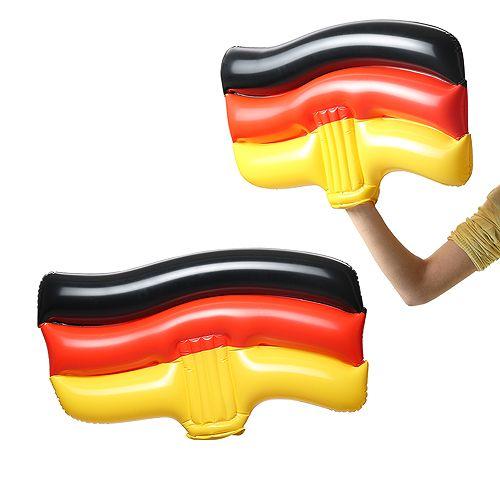 Aufblasbare Winkeflagge Deutschland,schwarz/rot/gelb,10P P
