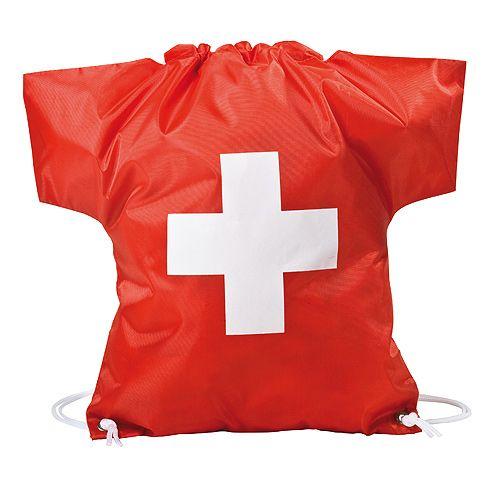 Sportbeutel Trikot-Schweiz, rot/weiß