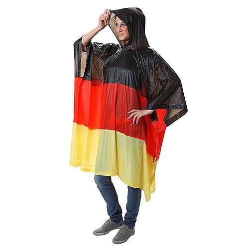 Regenponcho Nations, Deutschland, schwarz/rot/gelb