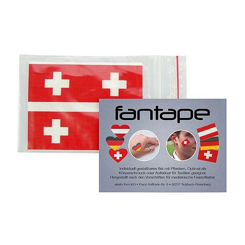 Fantape Rechteck 4er-Set, Schweiz im Beutel+Einleger