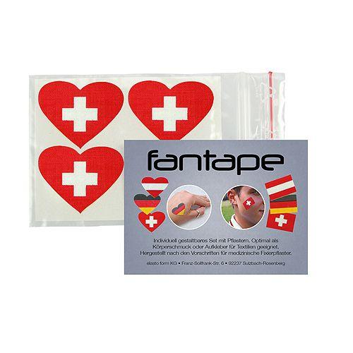 Fantape Herz 4er-Set, Schweiz im Beutel+Einleger