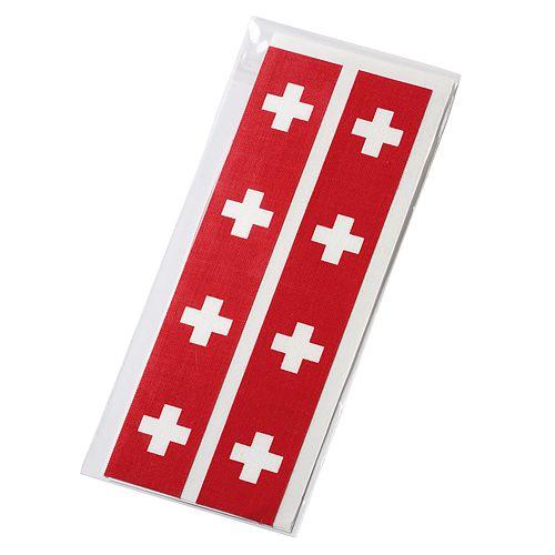 Fantape Rechteck 8er-Set, Schweiz im Beutel+Einleger