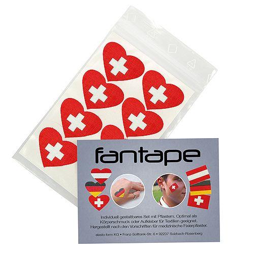 Fantape Herz 8er-Set, Schweiz im Beutel+Einleger