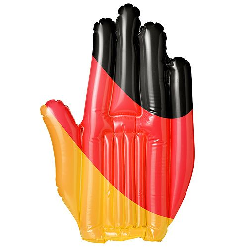 Aufblasbare Winkehand Deutschland, schwarz/rot/gelb
