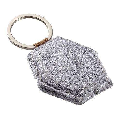 Schlüsselanhänger Filzlampe Diamond, grau
