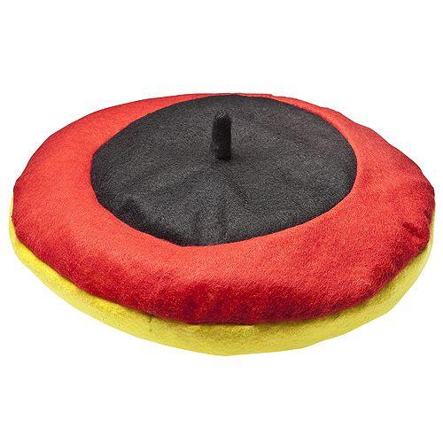 Baskenmütze Deutschland, schwarz/rot/gelb
