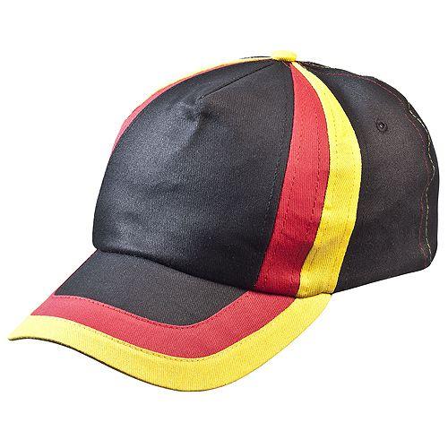 Cap Stripes Deutschland, schwarz/rot/gelb
