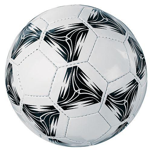 Fußball Goldstar, weiß, mit schwarzem Muster