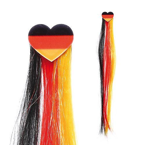 Haarsträhne Nations, schwarz/rot/gelb, HERZ