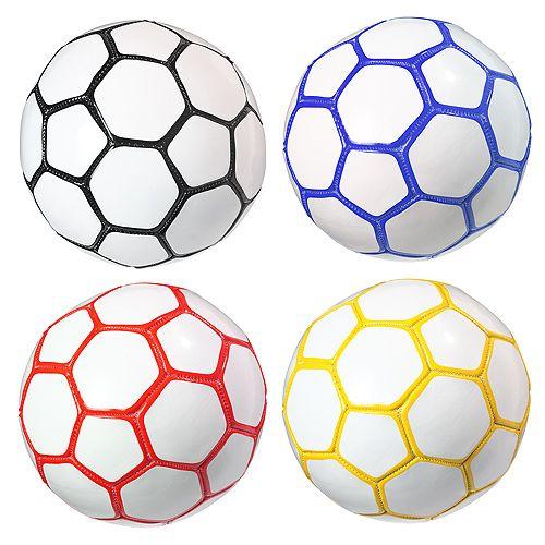 Fußball Mini Colour, weiß/schwarz