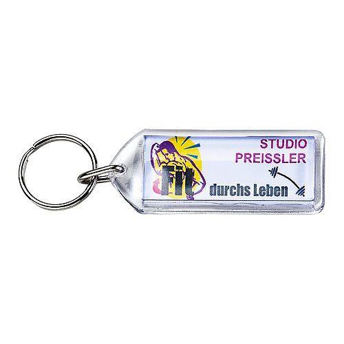 Schlüsselanhänger Inlay 50*20, transparent
