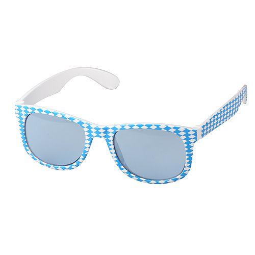 Sonnenbrille Bavaria, blau/weiß