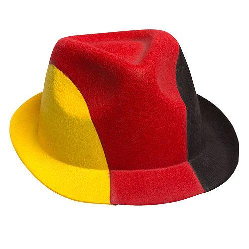 Trachtenhut Germany, schwarz/rot/gelb