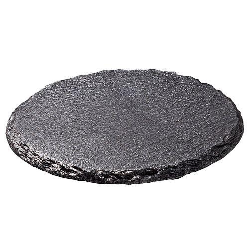 Untersetzer Schiefer rund, schwarz