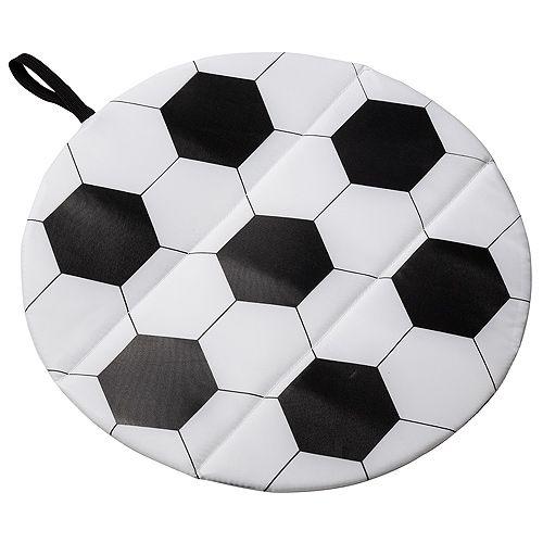 Sitzkissen Fußball, weiß