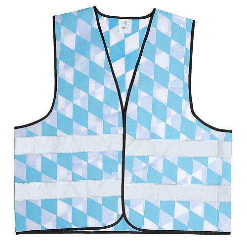 Funweste Bayern, weiß/blau