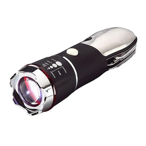 Taschenlampe Multitool, schwarz/silber
