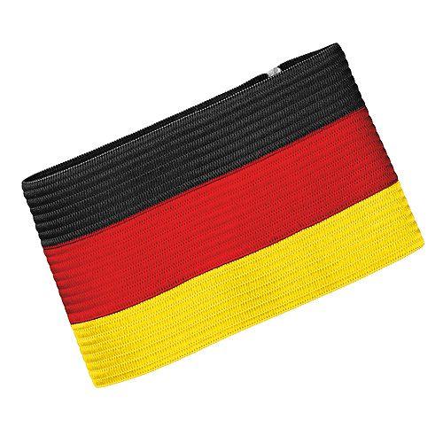 Spielführerbinde Nations, schwarz/rot/gelb