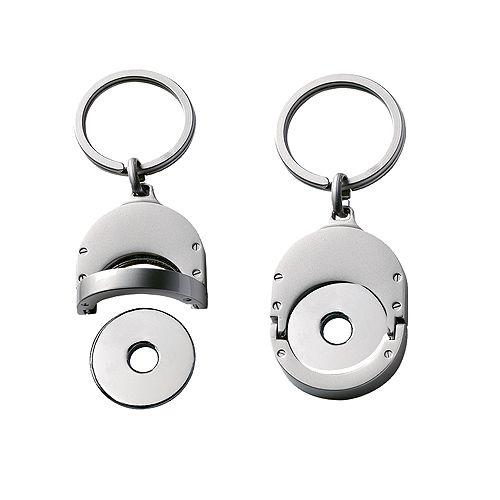 Chip-Schlüsselanhänger Metall mit Chip, silber