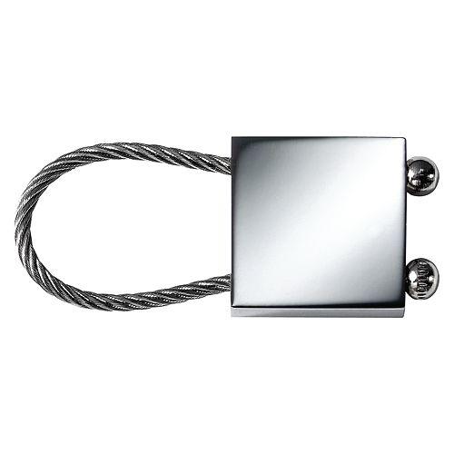 Schlüsselanhänger Cable Square, silber